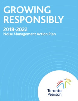 The cover page of the Toronto Pearson Noise Management Action Plan