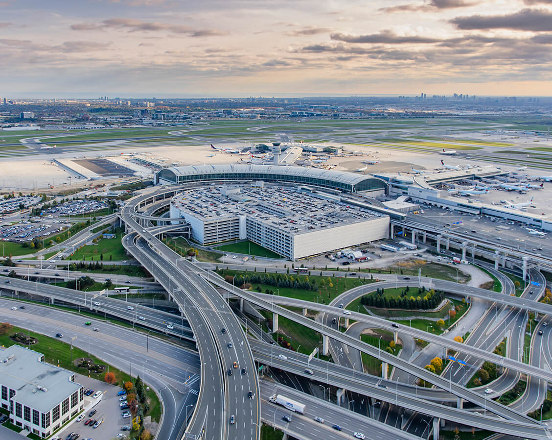 Pearson Airport from above