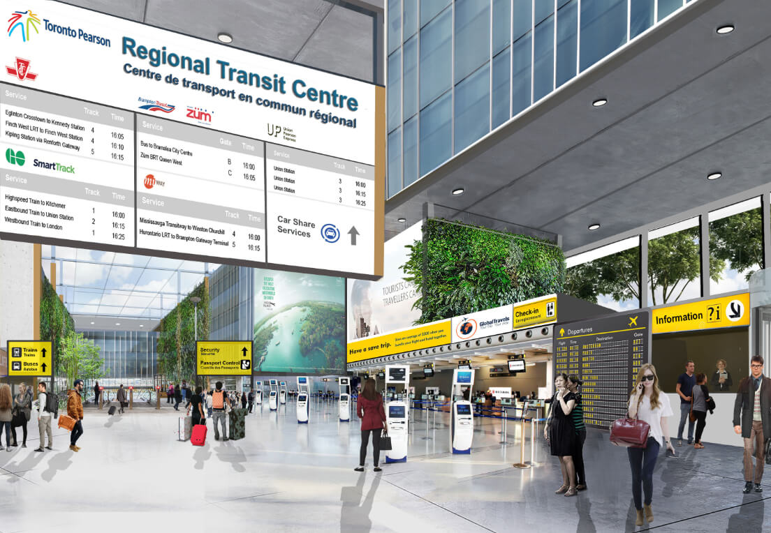 Rendering of Toronto Pearson Airport of the future