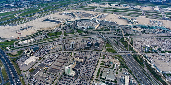 aerial of Toronto Pearson