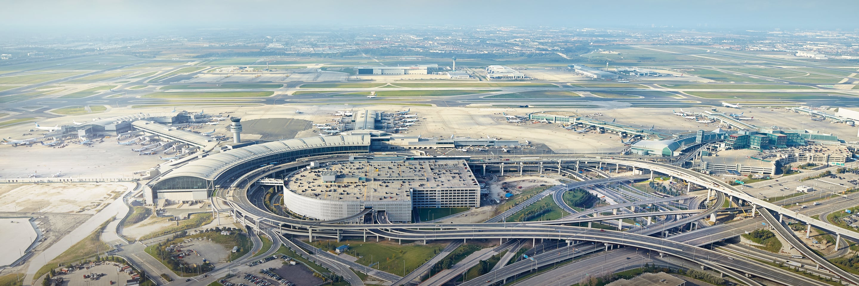 Aerial view of Pearson Airport