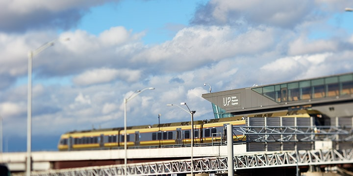 UP Express Toronto Pearson Airport train