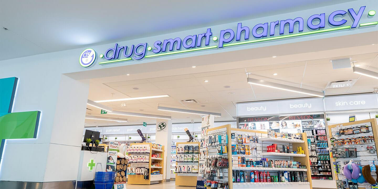 Entrance to Drug Smart Pharmacy.