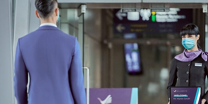 male passenger and allways employee masked