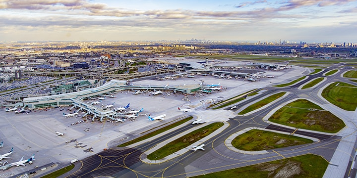 aerial of Toronto Pearson