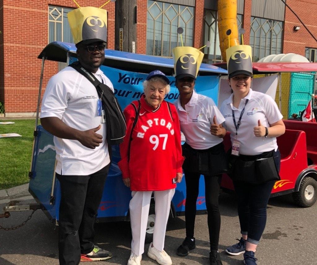 Hazel McCallion with Pearson Street Team