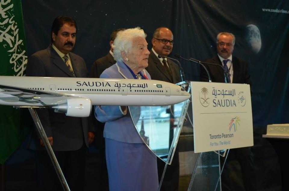 Hazel McCallion at Saudia airline event