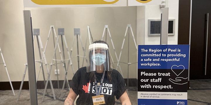 Alex, Operations support staff, Peel Region vaccine clinic